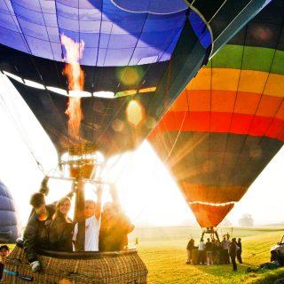 Lot balonami - impreza firmowa